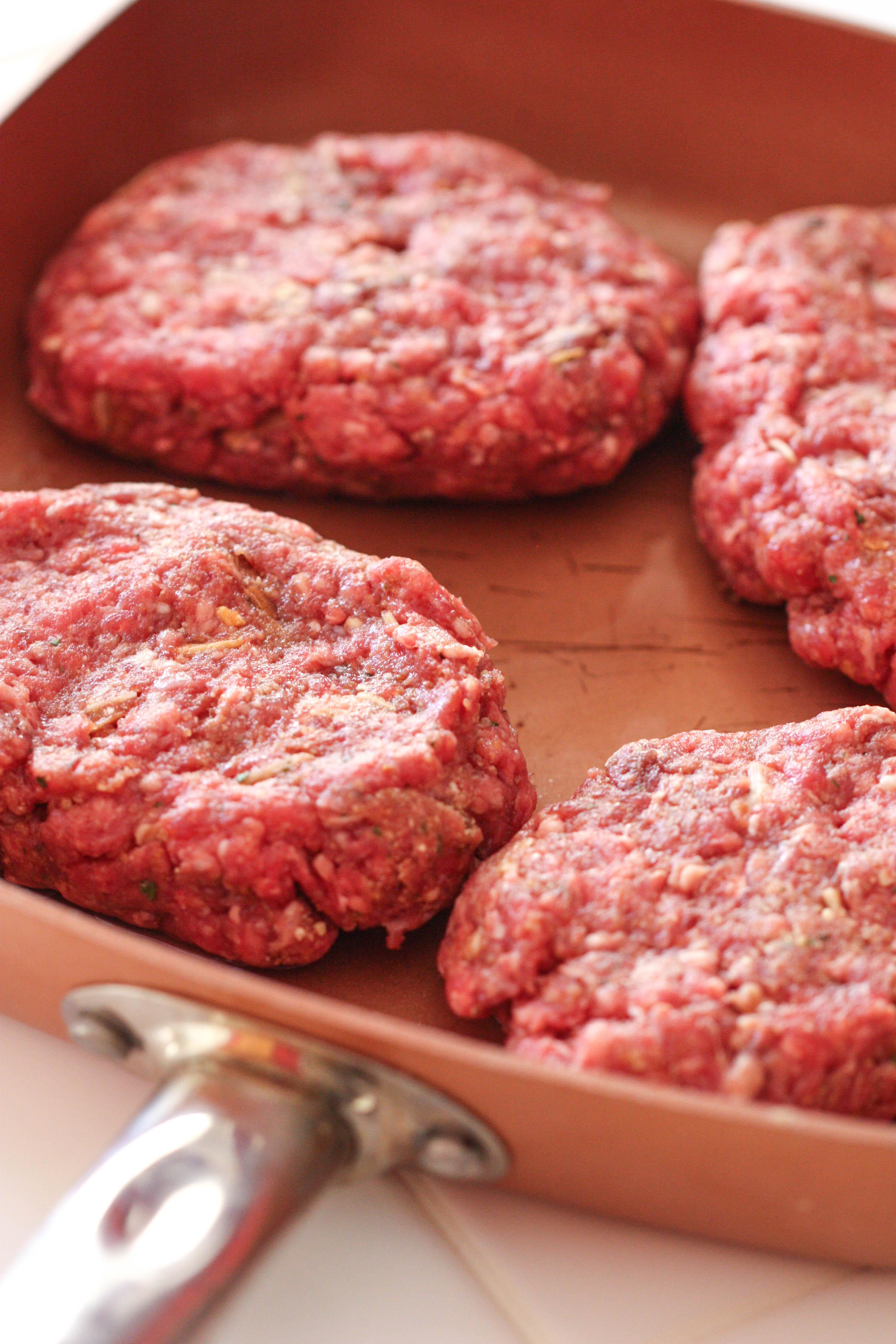 Homemade Salisbury Steak patties ready to cook