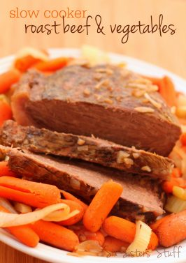 Slow Cooker Roast Beef and Vegetables Recipe