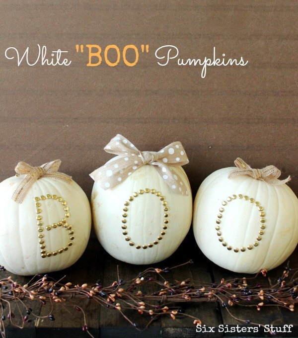 White Boo Pumpkins