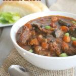 slow cooker chunky roast stew