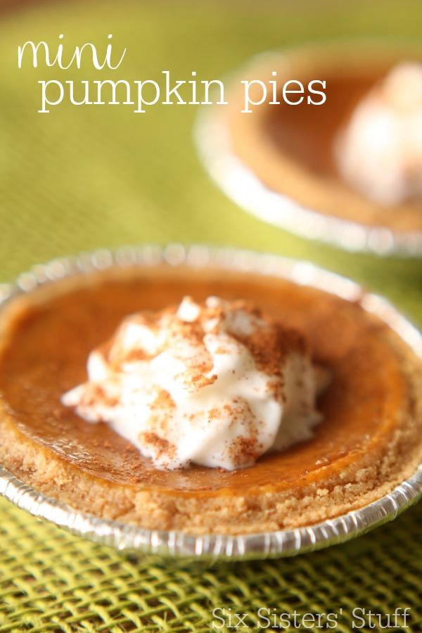 Mini Graham Cracker Crust Pumpkin Pies Recipe