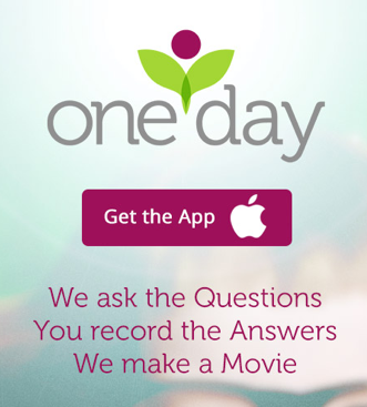 Make and share holiday memories with the FREE OneDay App!