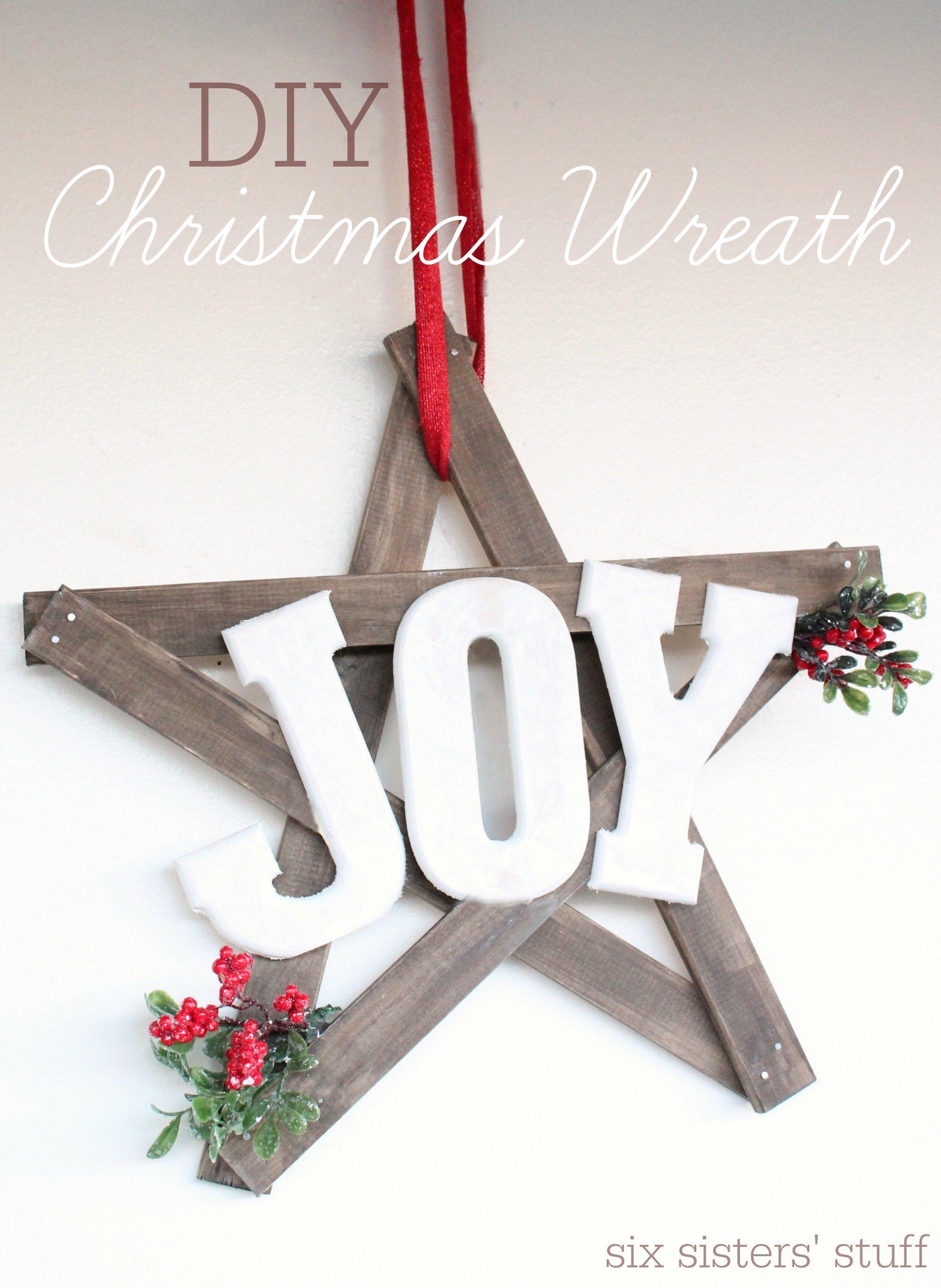 """Christmas """"Joy"""" Wreath"""