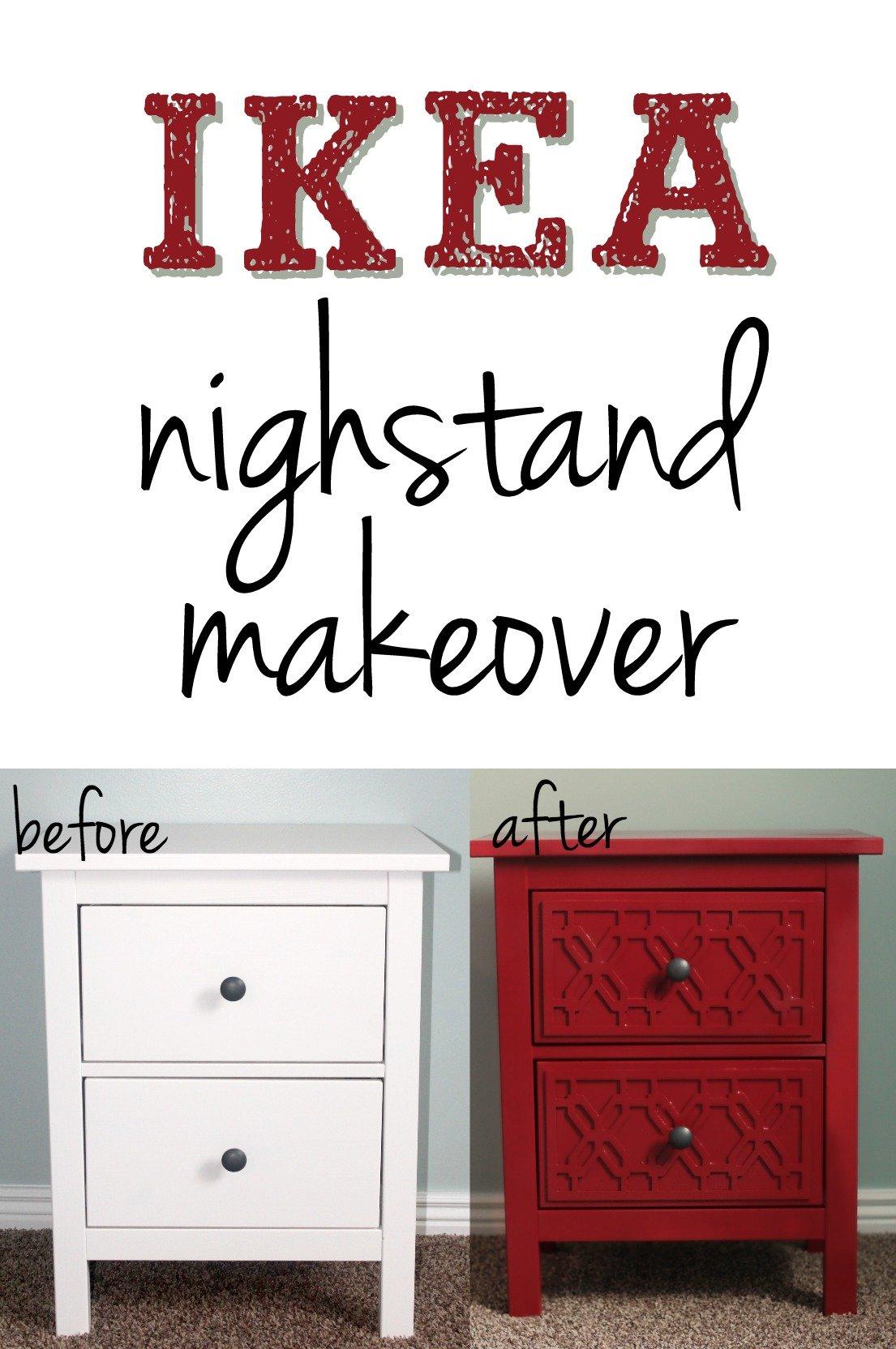 Ikea Hemnes Nightstand Makeover Six Sisters Stuff