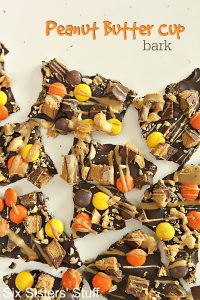 Peanut Butter Cup Bark Recipe on SixSistersStuff