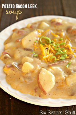 Cheesy Potato Bacon Leek Soup Recipe