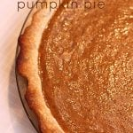Simple Pumpkin Pie Recipe on SixSistersStuff