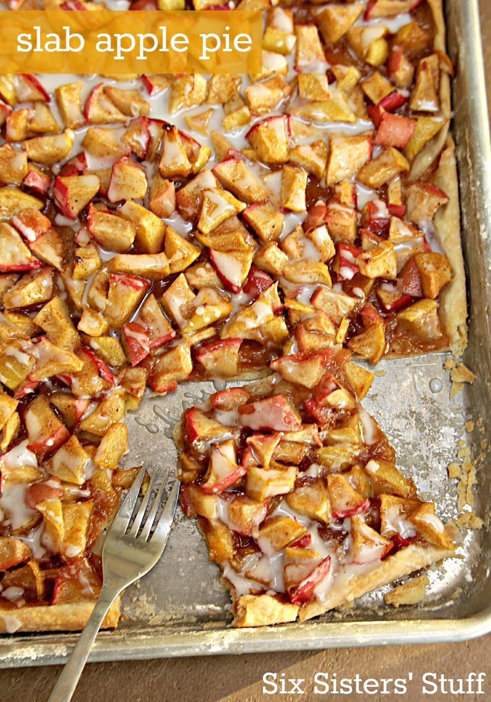 Slab Apple Pie Recipe on SixSistersStuff