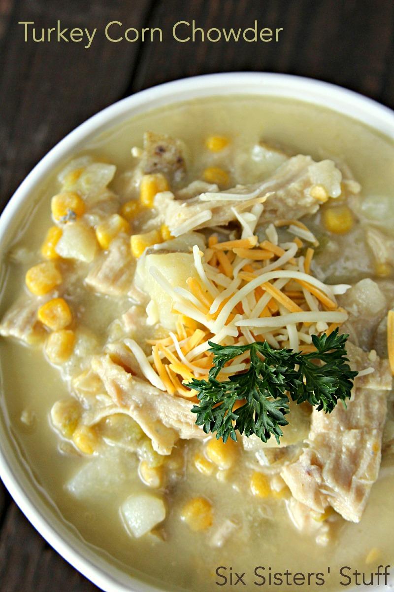 Turkey Corn Chowder Recipe on SixSistersStuff