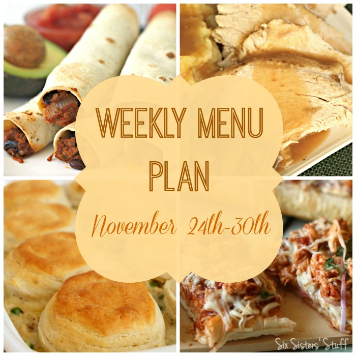 Weekly Menu Plan November 24th-30th