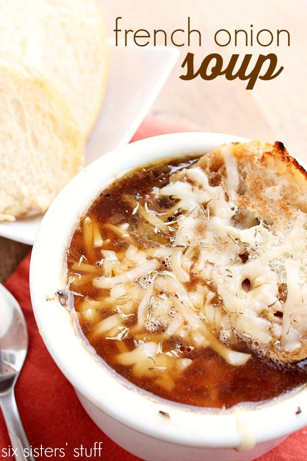 Slow Cooker French Onion Soup Six Sisters Stuff