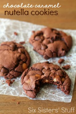 Chocolate Caramel Nutella Cookies Recipe