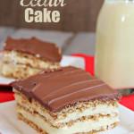 Eggnog Eclair Cake