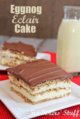 Eggnog Elcair Cake