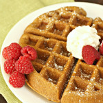 Gingerbread Waffles on SixSistersStuff