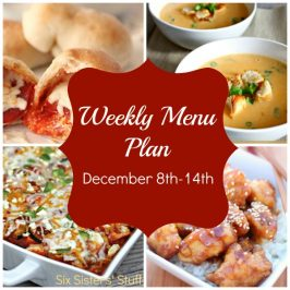 Menu Plan December 8th – 14th