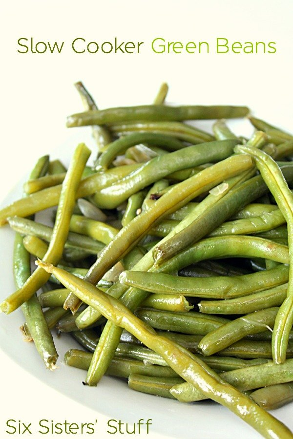Slow Cooker Green Beans Recipe (Easy Side Dish)