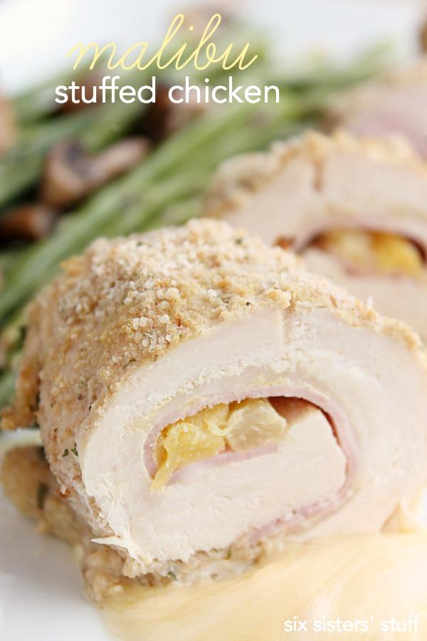 Malibu Stuffed Chicken