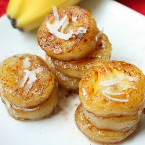 'Fried' Honey Coconut Bananas