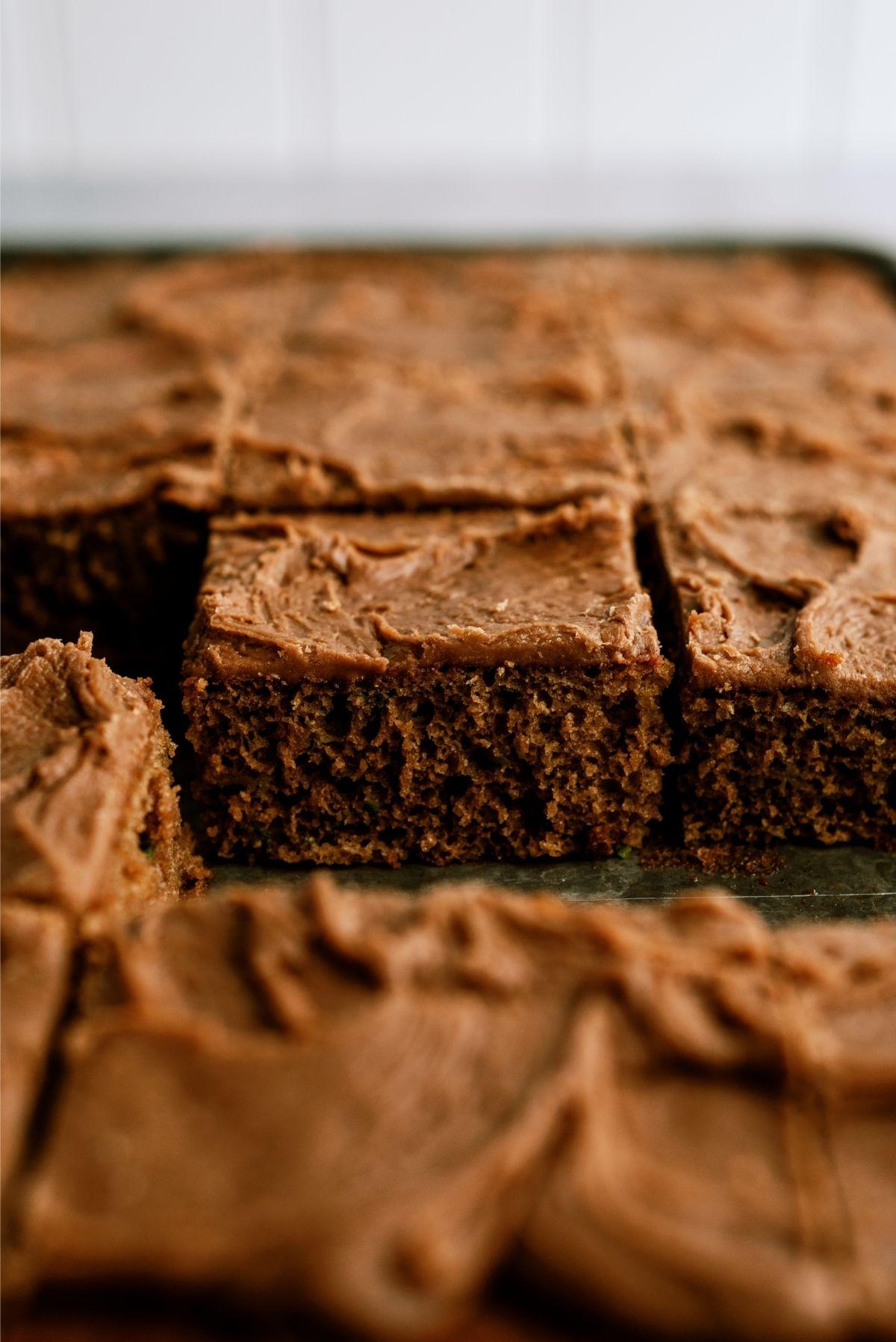 Chocolate Zucchini Sheet Cake Recipe