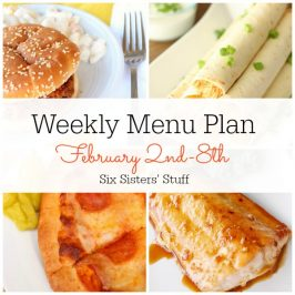 Menu Plan February 2nd-8th