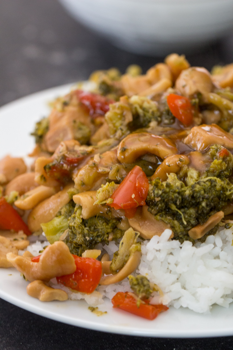 Instant Pot Cashew Chicken Recipe