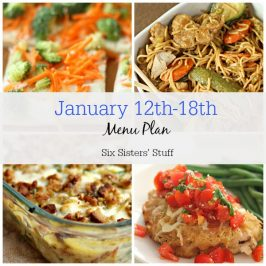 January 12th-18th Menu Plan