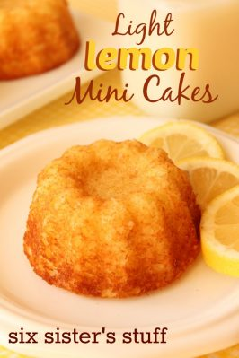 Light Lemon Mini Cakes Recipe