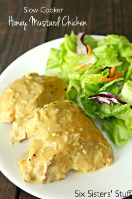 Slow Cooker Honey Mustard Chicken on SixSistersStuff