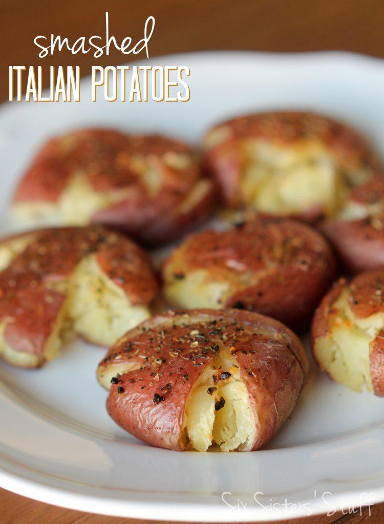 Smashed Italian Red Potatoes Recipe