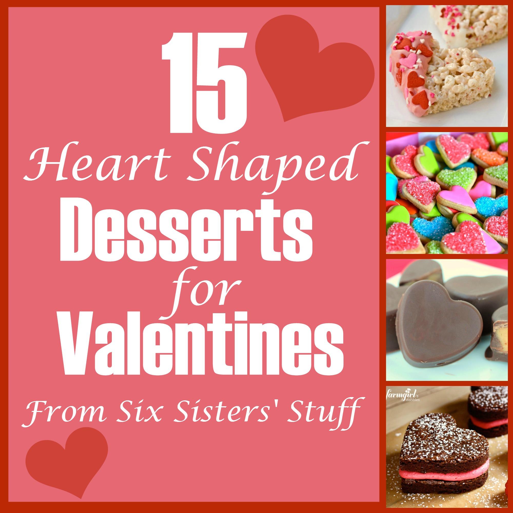 Valentines Heart Desserts