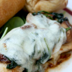 barbecue Spinach Mushroom chicken