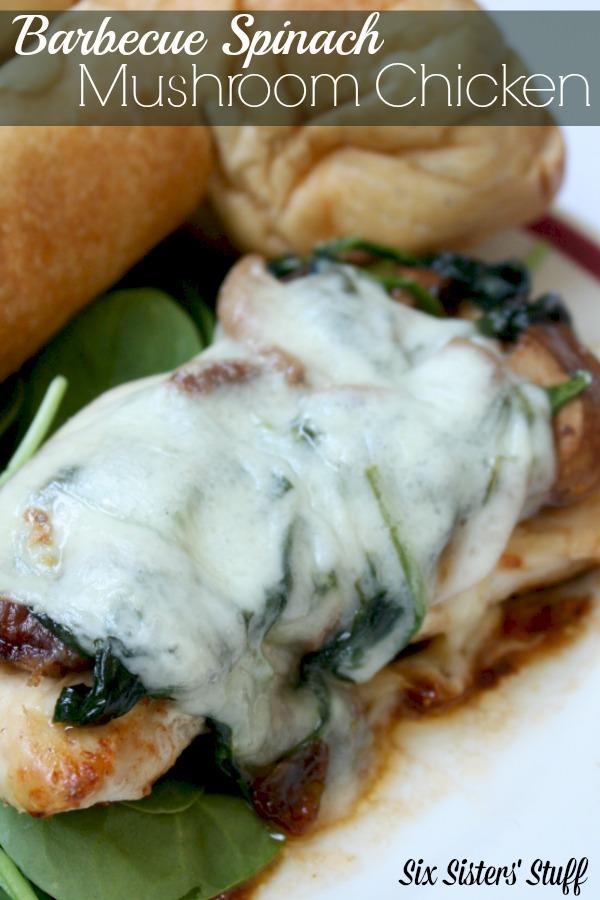 Barbecue Mushroom Spinach Chicken
