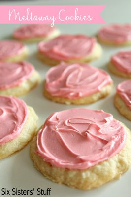 Frosted Meltaway Cookies