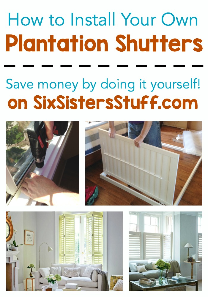How to install plantation shutters six sisters stuff how to install plantation shutters yourself and a giveaway solutioingenieria Image collections