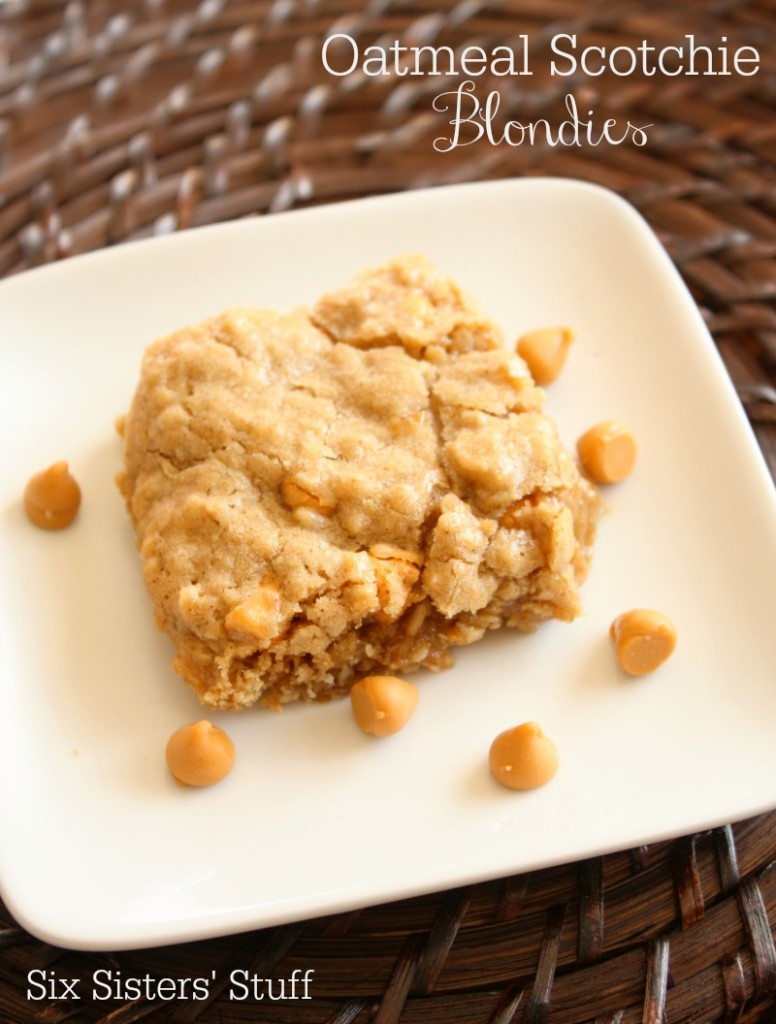 Oatmeal Scotchie Blondies