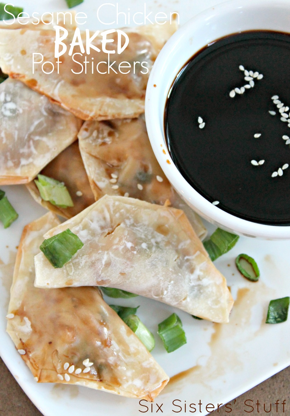 Sesame Chicken Baked Pot Stickers Recipe