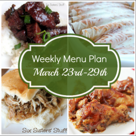 Weekly Menu Plan March 23rd-29th
