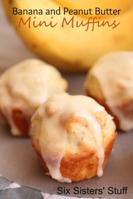 Banana and Peanut Butter Chip Mini Muffins Recipe