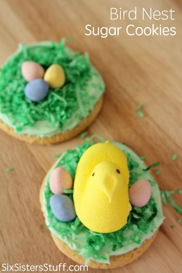 Bird Nest Sugar Cookies on SixSistersStuff