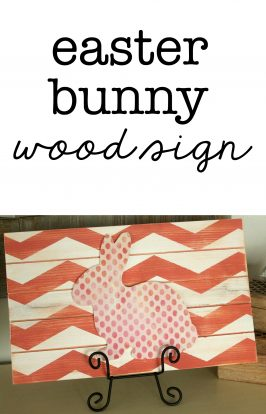Wood Easter Bunny Sign
