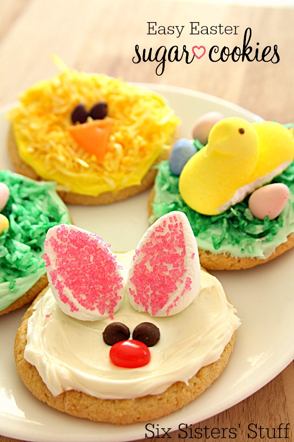 Easy Easter Sugar Cookies on SixSistersStuff