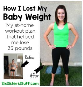 How I Lost My Baby Weight- 8 Week At-Home Workout Plan