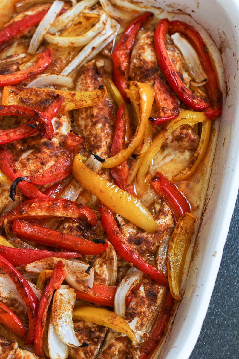 One Pan Baked Fajitas