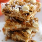 White Chocolate Carrot Cheesecake Bars