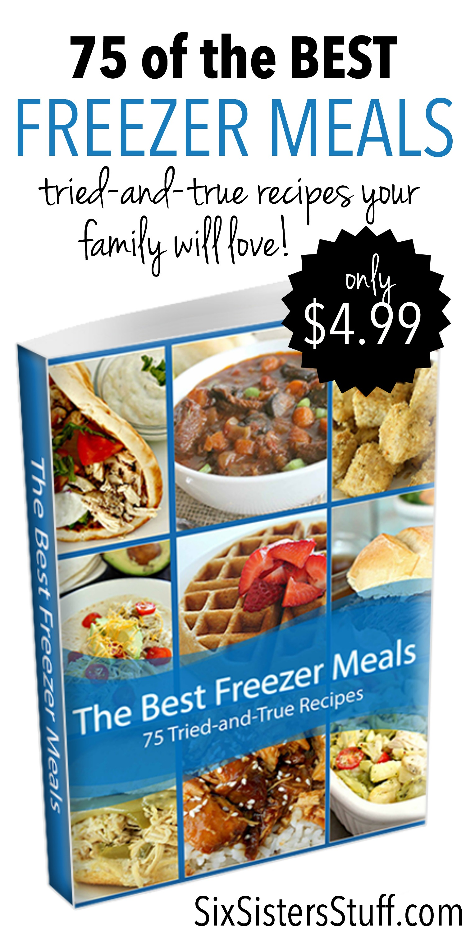 75 of the Best Freezer Meals with logo