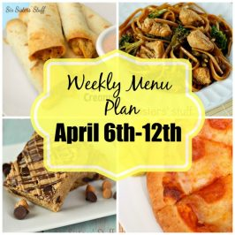 Weekly Menu Plan April 6th-12th