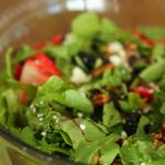 Berry Balsamic Salad with Candied Pecans