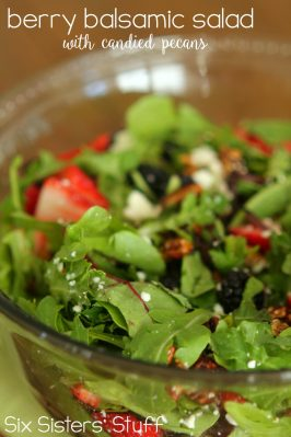 Berry Balsamic Salad with Candied Pecans Recipe
