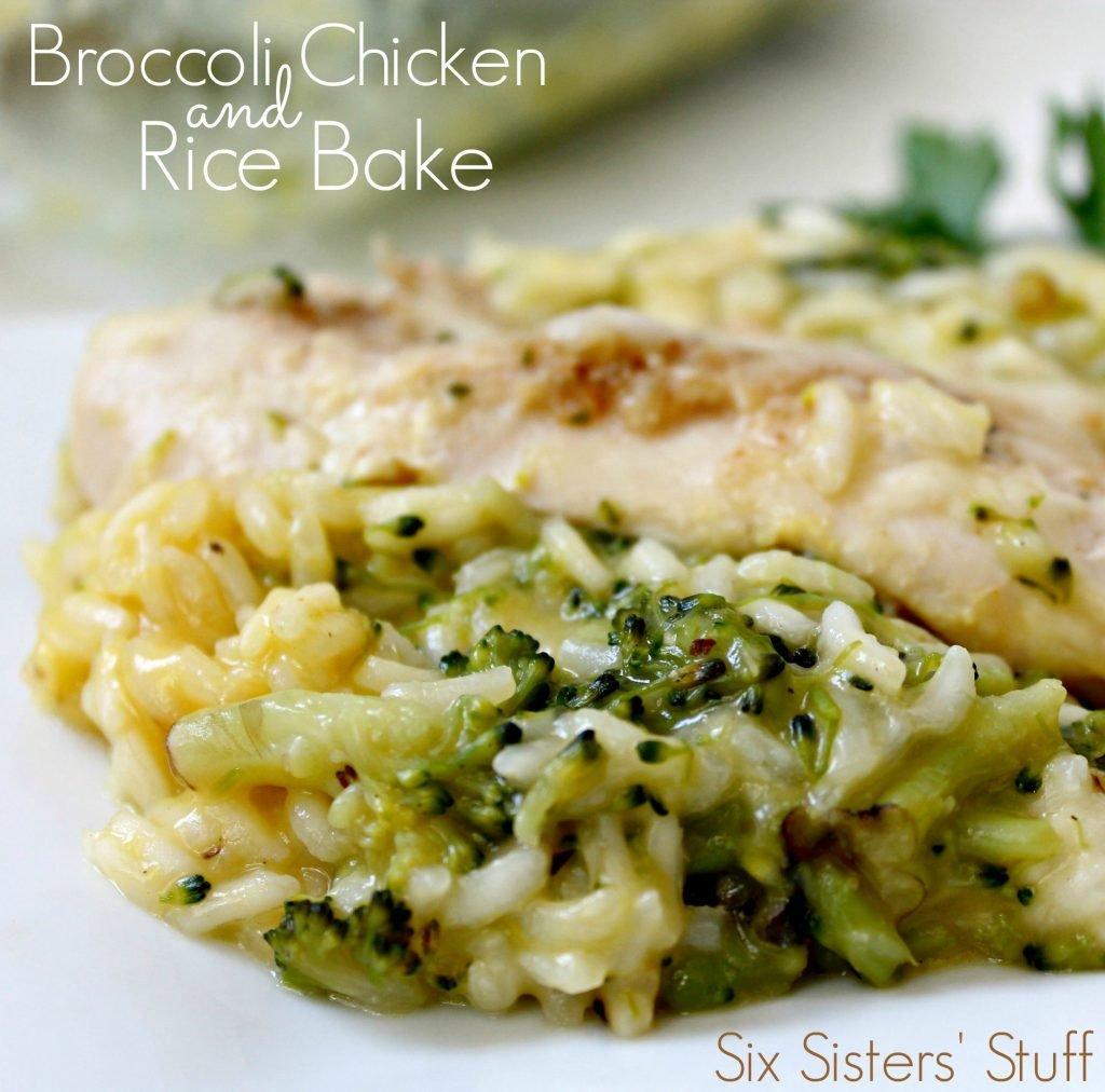 Broccoli Chicken And Rice Bake Six Sisters Stuff